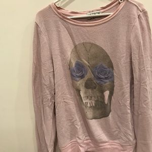 Wildfox skull flower sweatshirt